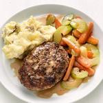 Солсбери стейк с картофельным пюре
