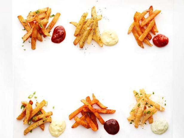 Фото 6 идей пряного картофеля фри с соусами