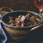 Пот-роуст из говядины в пивном соусе