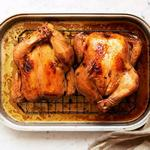 Хрустящая курица с лимоном и перцем в духовке