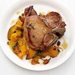 Свиной стейк с тыквой и шалфеем