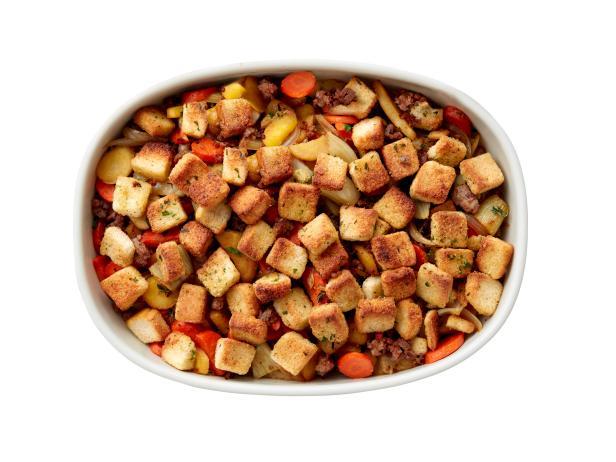 20. Овощная запеканка с колбасой