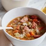 Суп из чечевицы с копчёностями