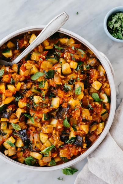 Фото Рататуй из печёных овощей