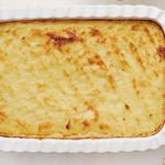 Гратен из картофельного пюре с чесноком