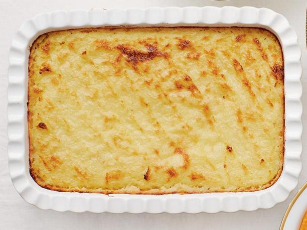 Фото Гратен из картофельного пюре с чесноком