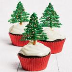 Капкейки «Рождественские ёлки»