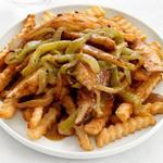 Картофель фри с курицей чили