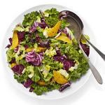 Листовой салат с апельсинами