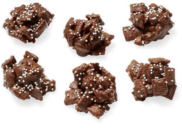 Фото Шоколадно-арахисовые хрустящие конфеты