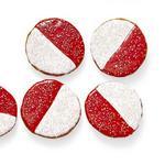 Красно-белое печенье