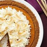 Тыквенно-кокосовый кремовый пирог