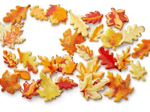 Фото Сахарное печенье «Листья»