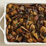 Хлебная начинка с грибами для индейки (гарнир)