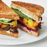 Сэндвичи с печёными овощами