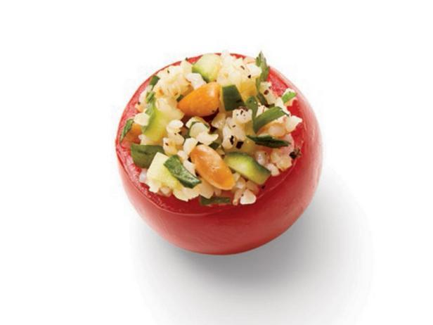 Помидоры с салатом табуле