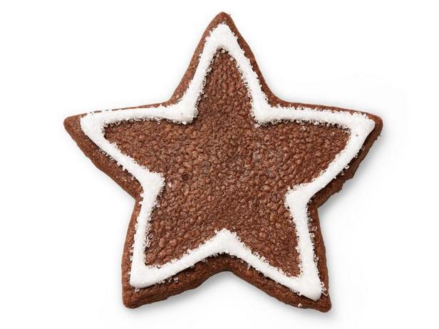 Фото Шоколадное песочное печенье Звезда