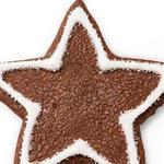 Шоколадное песочное печенье Звезда