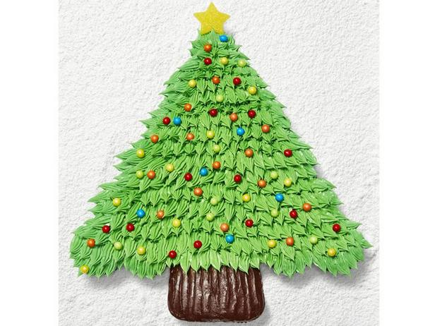 Фото Торт из капкейков «Рождественская ель»
