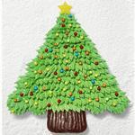 Торт из капкейков «Рождественская ель»
