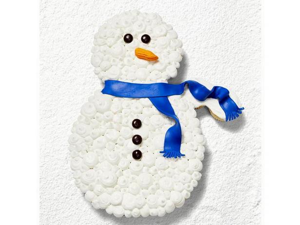 Фото Торт из капкейков «Снеговик»