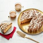 Кофейный пирог с глазурью из эгг-нога