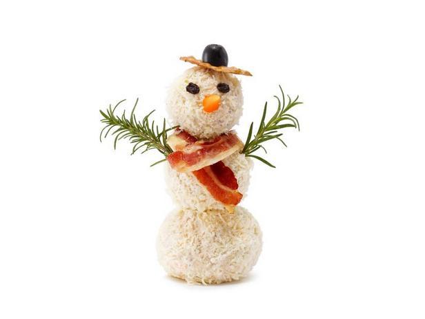 Фото Сырный снеговик
