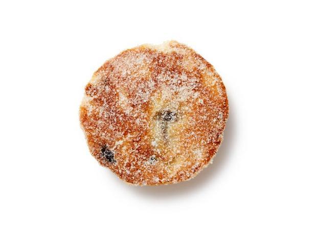 Фото Валлийское печенье с клюквой на сковороде