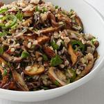 Дикий рис с грибами