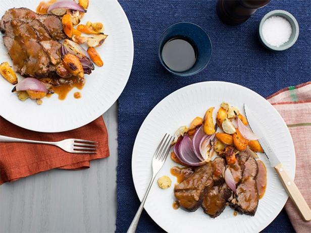 Фото Пот-роуст с печёными овощами