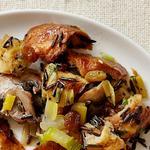 Начинка с халой, грибами, диким рисом и изюмом (гарнир)