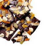 Шоколадная плитка с кокосом, манго и орехами макадамия