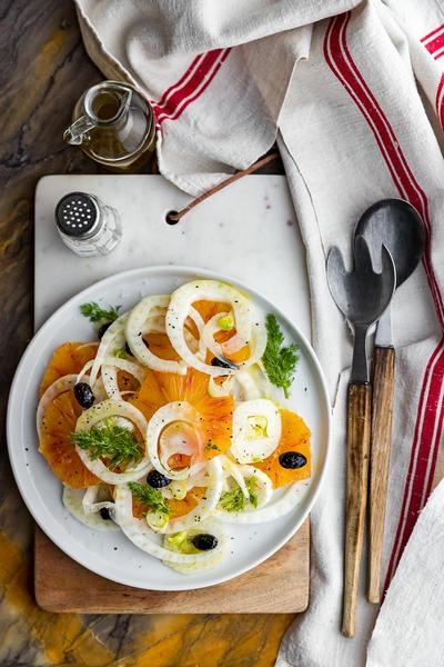 Фото Салат с фенхелем и апельсинами