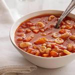 Быстрый томатно-фасолевый суп