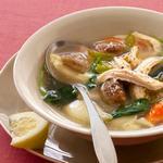 Итальянский куриный суп с «поджаренными» ньокки из пармезана