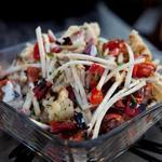 Салат с цветной капустой на гриле