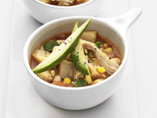 Фото Белый чили с курицей (густой суп)