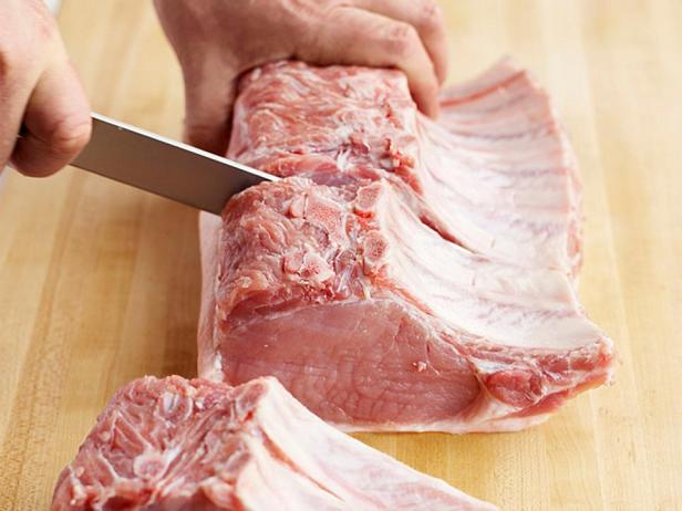 Натуральные котлеты из свиной корейки в глазури барбекю