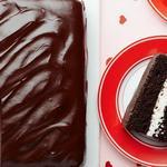 Шоколадный торт с творожно-кокосовой прослойкой