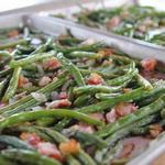 Зелёная фасоль с беконом в духовке