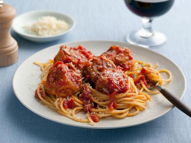 Фото Спагетти с фрикадельками без мяса