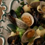 Макароны с моллюсками и мидиями