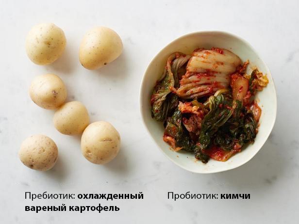 Картофель + кимчи