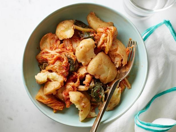 Картофельный салат с кимчи