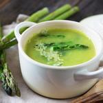 Сметанный суп из спаржи