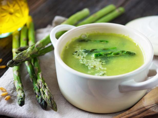 Фото Сметанный суп из спаржи