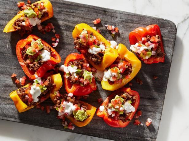 Начос из сладких перцев (кето-диета)