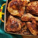 Лимонная курица в духовке