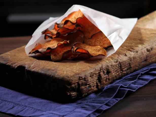 Острые чипсы из батата