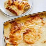 Картофельная запеканка с сыром и ветчиной